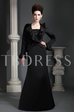 Beaded Strapless Mother of the Bride Dress With Jacket
