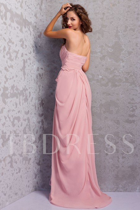 Strapless Lace Sheath Mother of the Bride Dress