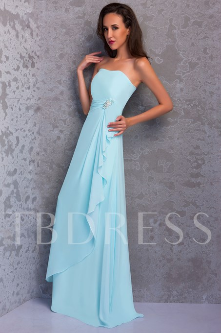 A-line Strapless Floor Length Renata's Mother of the Bride Dress