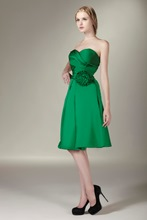 Ruched A-line Flower Sweetheart Short Bridesmaid Dress