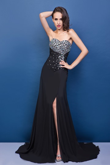 A-line Long Sweetheart Evening Dress
