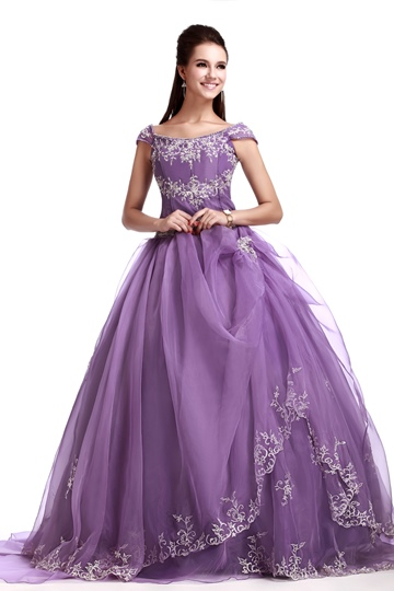 Floor-Length Off-the-Shoulder Sandra's Quinceanera Ball Gown Dress