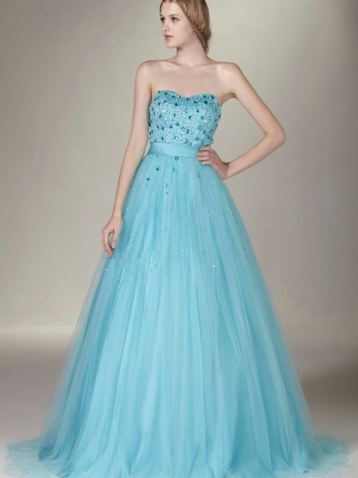 Sweetheart Floor-Length Beading Sasha's Prom/Ball Gown Dress