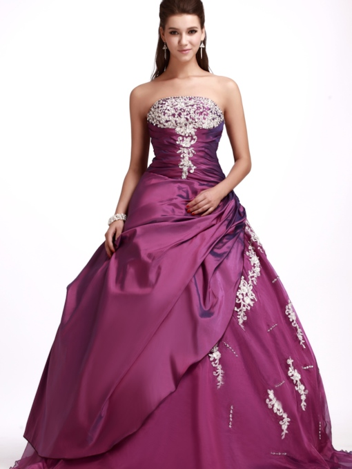 Embroidery Sandra's Quinceanera Ball Gown Dress