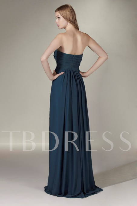 Ruched A-Line Floor-length Strapless Sasha's Bridesmaid Dress