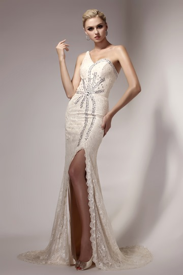 Mermaid One Shoulder Floor-length Formal Evening Dress