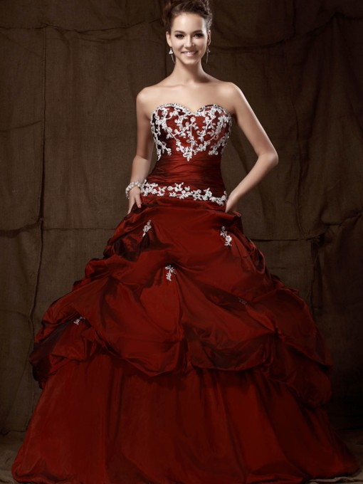 Sweetheart Floor-Length Pick-ups Quinceanera Dress