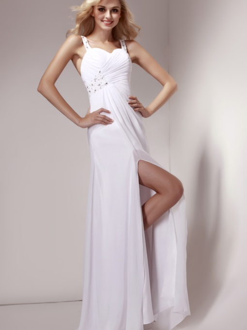 A-Line Floor-Length Straps Dasha's Evening Dress
