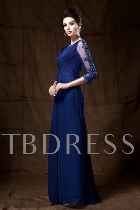 Appliques Beading Mother of the Bride Dress with Sleeves
