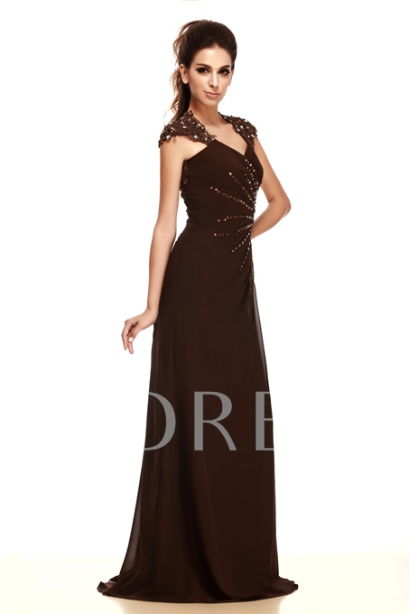 Straps Appliques Beading Mother of the Bride Dress