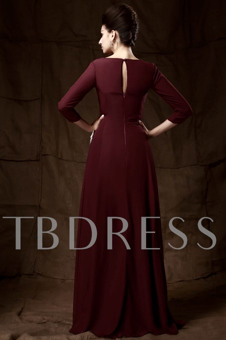 3/4-length Sleeves Sweetheart A-Line Mother Dress