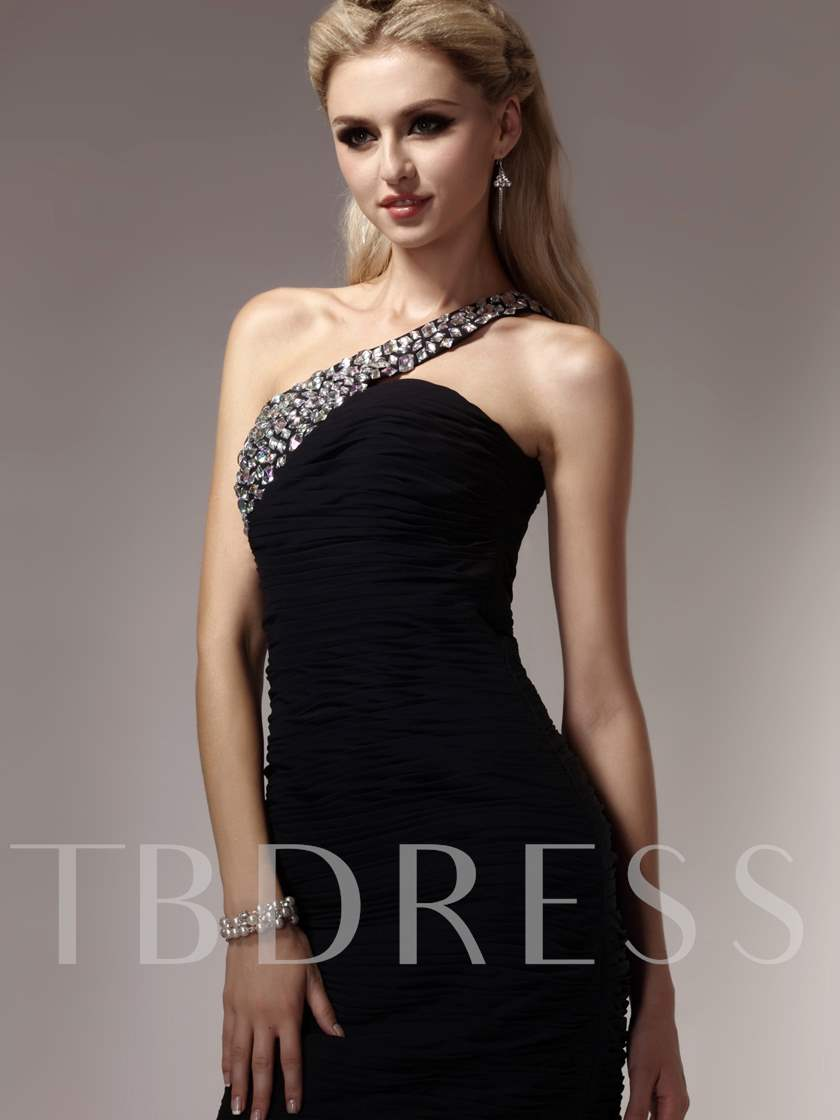 Column/Sheath One-shoulder Knee-length Dasha's Party Dress