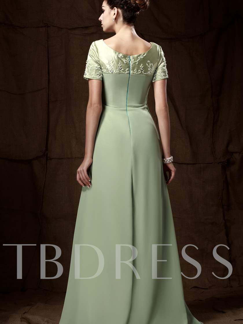 Empire Waist Beading Mother of the Bride Dress