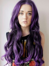 Hallowen Long Wavy Purple Wig for Cosplay