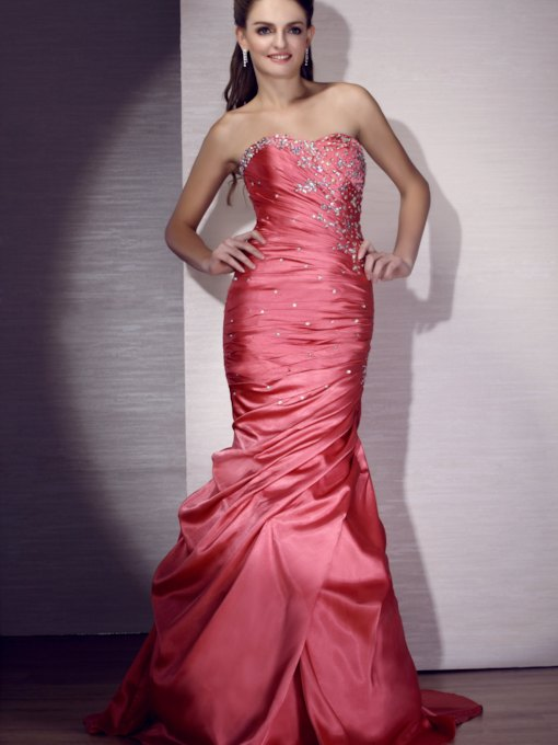 Strapless Floor-length Evening/Pageant Dress