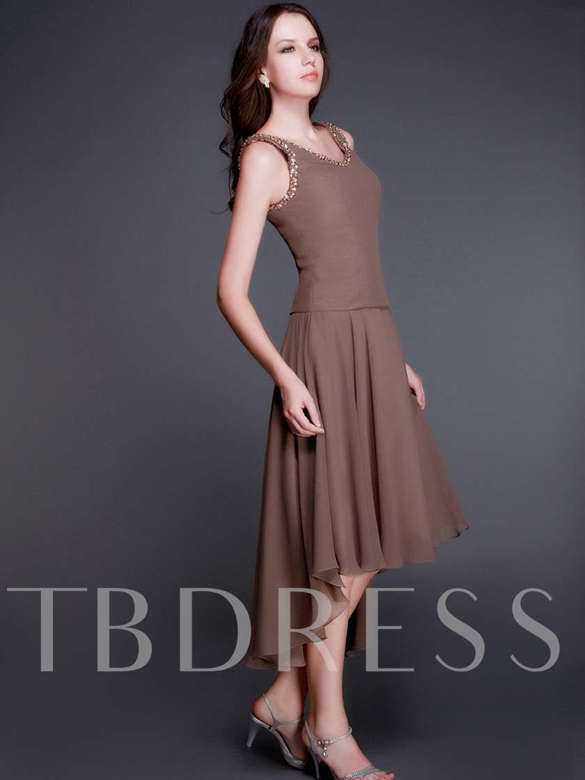Beaded High Low Mother of the Bride Dress With Jacket