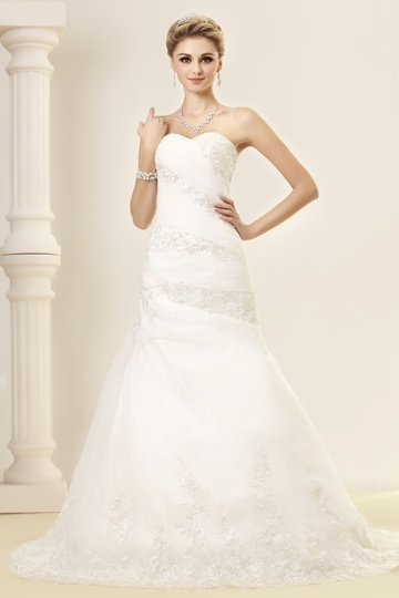 Mermaid Sweetheart Chapel Train Lace Dasha's Bridal Gown