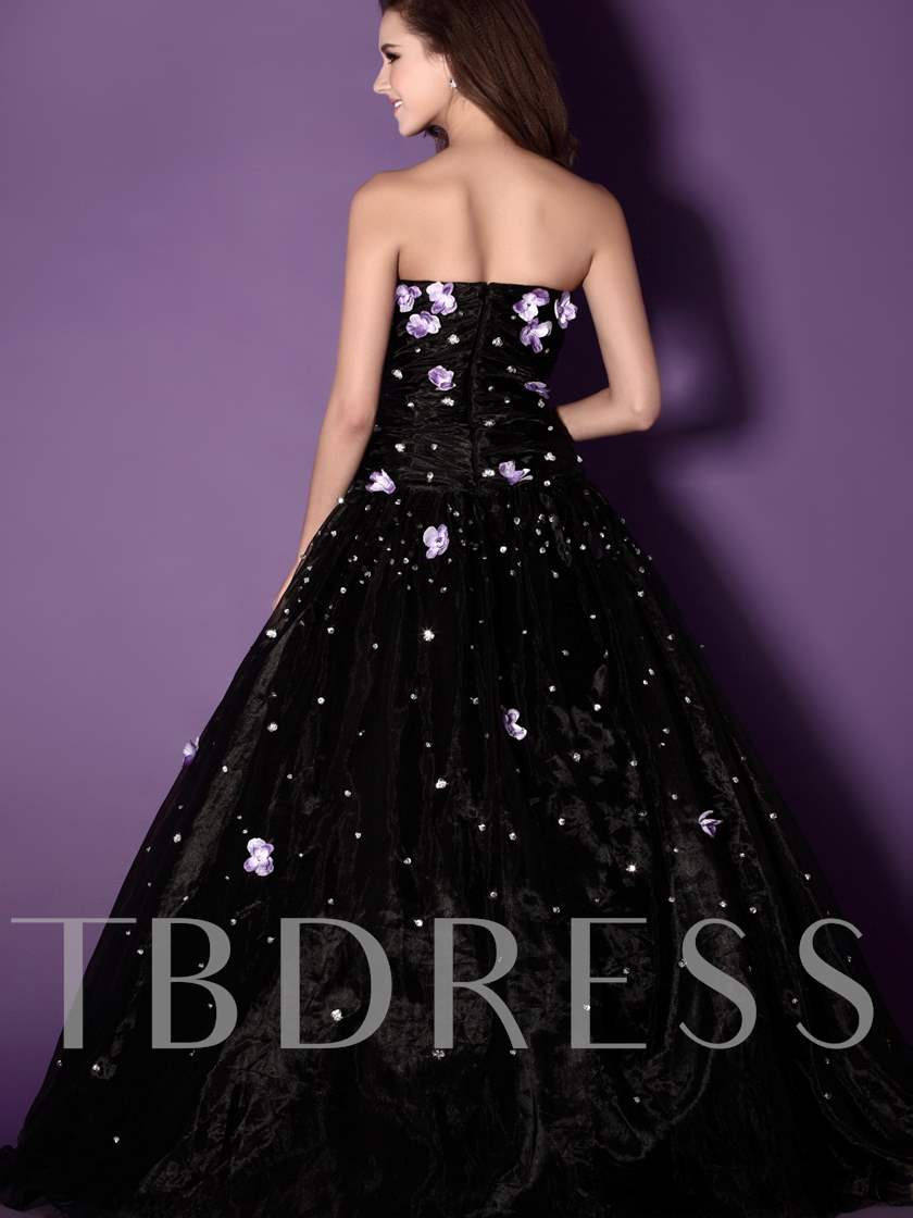 Strapless Floor-length Sandra's Ball Gown Prom Dress