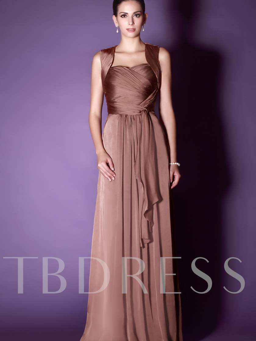 Sweetheart Straps Pleats Mother of the Bride Dress