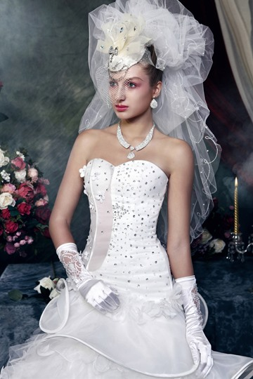 1-Layer Elbow Wedding Bridal Veil