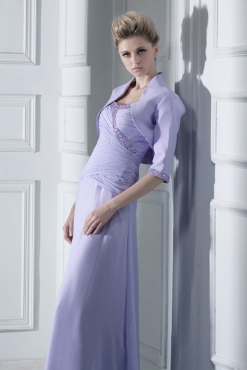 3/4 Sleeve Length Purple Wedding/ Party Jacket