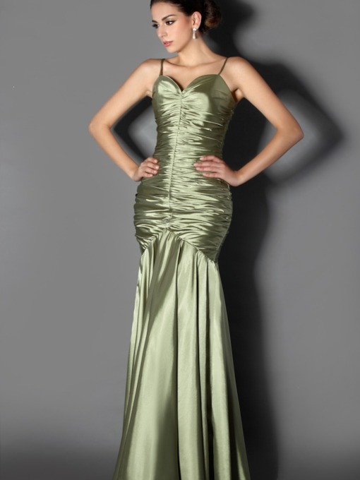 Mermaid/Trumpet Floor-Length Spaghetti Straps Taline's Evening Dress