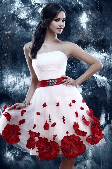 A-Line Strapless Short/Mini-Length Sandra's Homecoming Dress
