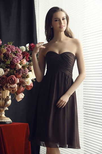 Ruched A-line Sweetheart Short Bridesmaid Dress