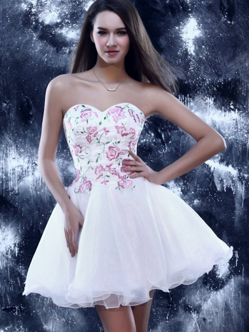 a -line Schatz Mini Prom / Homecoming Kleid Sandra