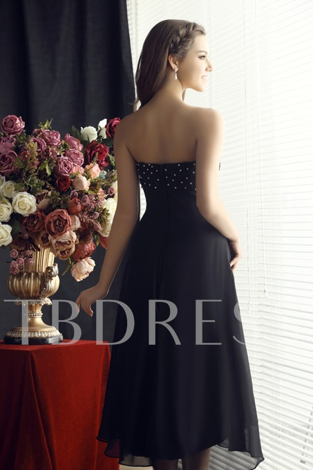 Draped Beading A-Line Sweetheart Short Bridesmaid Dress
