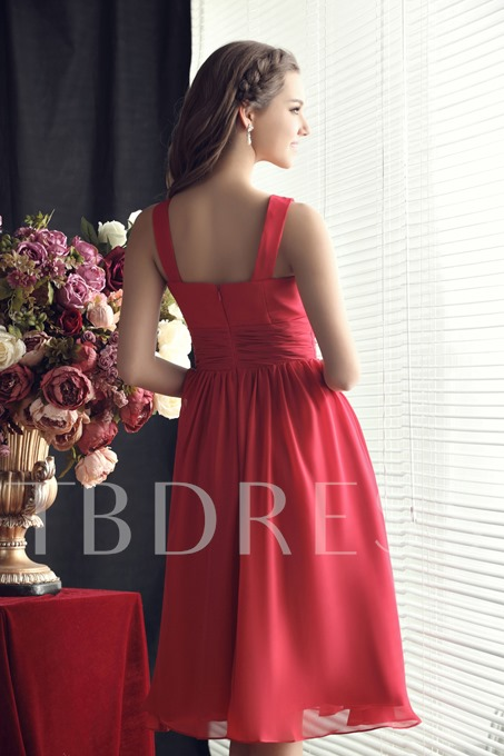 Ruched Scoop A-line Short Bridesmaid Dress
