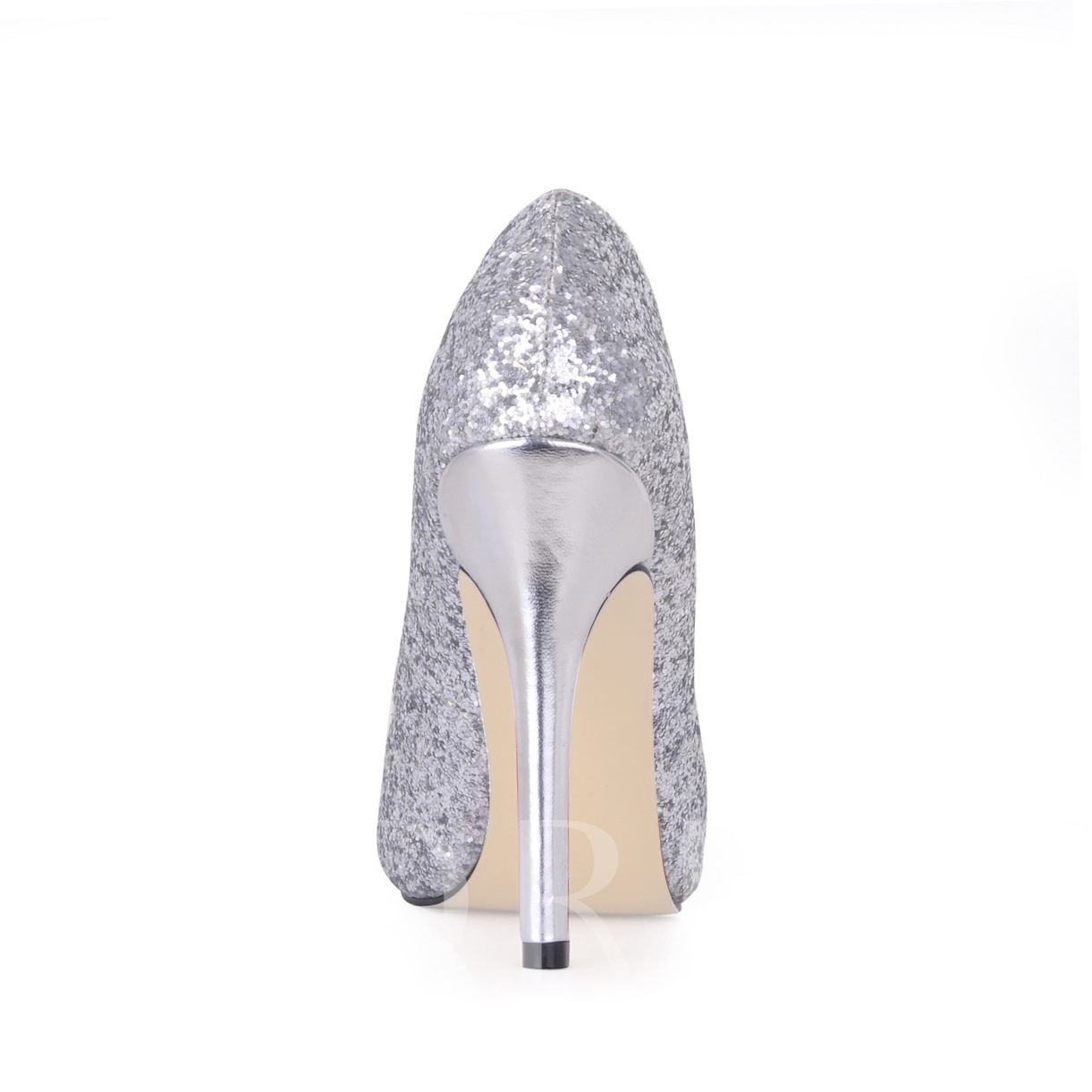 Shining Silver Stiletto Heels Peep Toe Prom/Evening Shoes