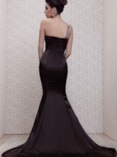 Mermaid One-Shoulder Beaded Evening Dress