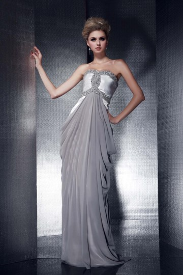 Column Sweetheart Beadings Evening Dress