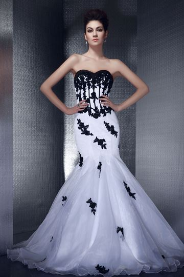 Trumpet/Mermaid Sweetheart Appliques Long Evening Dress