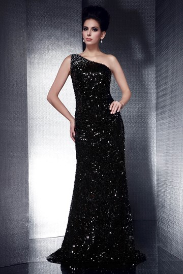 Sheath/Column One-Shoulder Floor-Length Taline's Evening Dress
