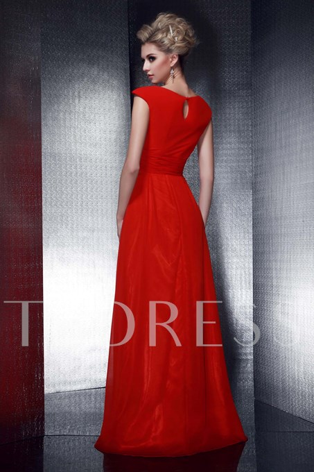 Empire Waist Beaded Mother of the Bride Dress