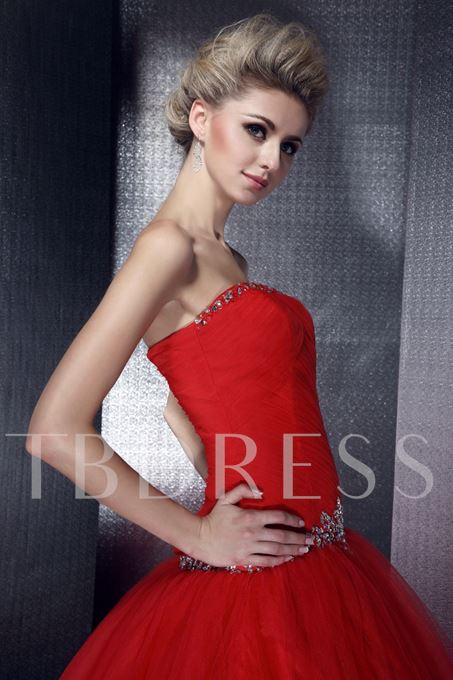 New Tulle Strapless A-Line Floor Length Dasha's Wedding Dress