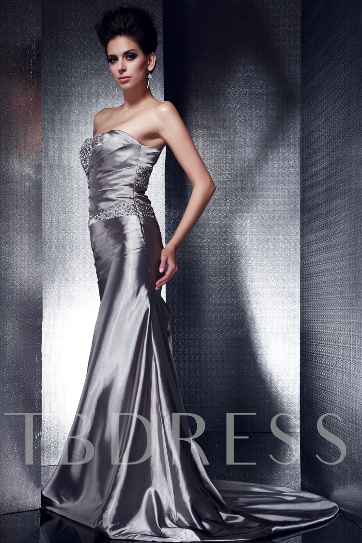 Column/Sheath Strapless Taline's Evening Dress