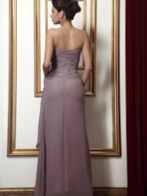 Draped Beading Ruched Sheath Mother of the Bride Dress