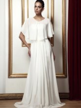 A-Line Chiffon Mother of Bride Dress with Shawl