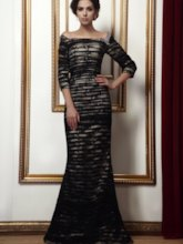 Mermaid Pleats Lace Mother of the Bride Dress with Sleeve