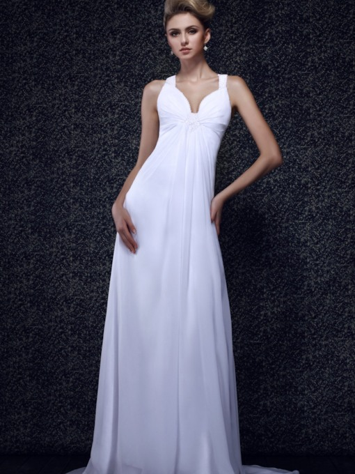 V-Neck Long Beading Column Dasha's Evening/Prom Dress