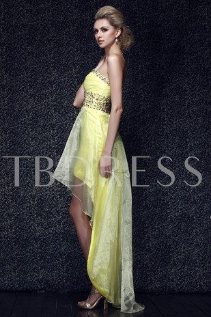 A-line Beading Sweetheart High-low Prom/Evening Dress