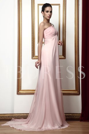 Draped Beading A-Line One-Shoulder Long Taline's Mother of Bride Dress