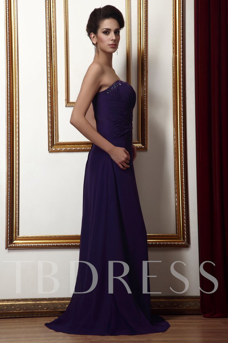 Strapless Pleats Mother of Bride Dress With Jacket