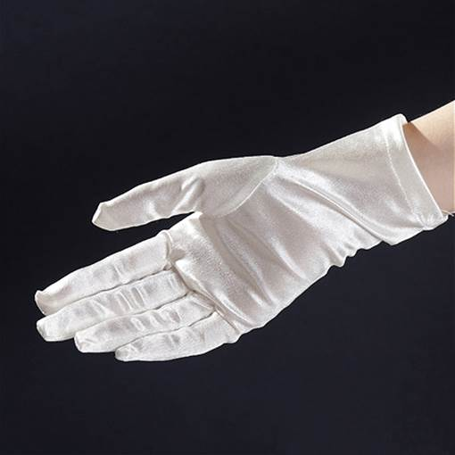 Short Satin Wedding Glove(more colors)
