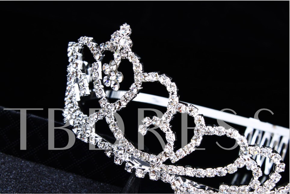 Alloy with Rhinestone Wedding Bridal comb
