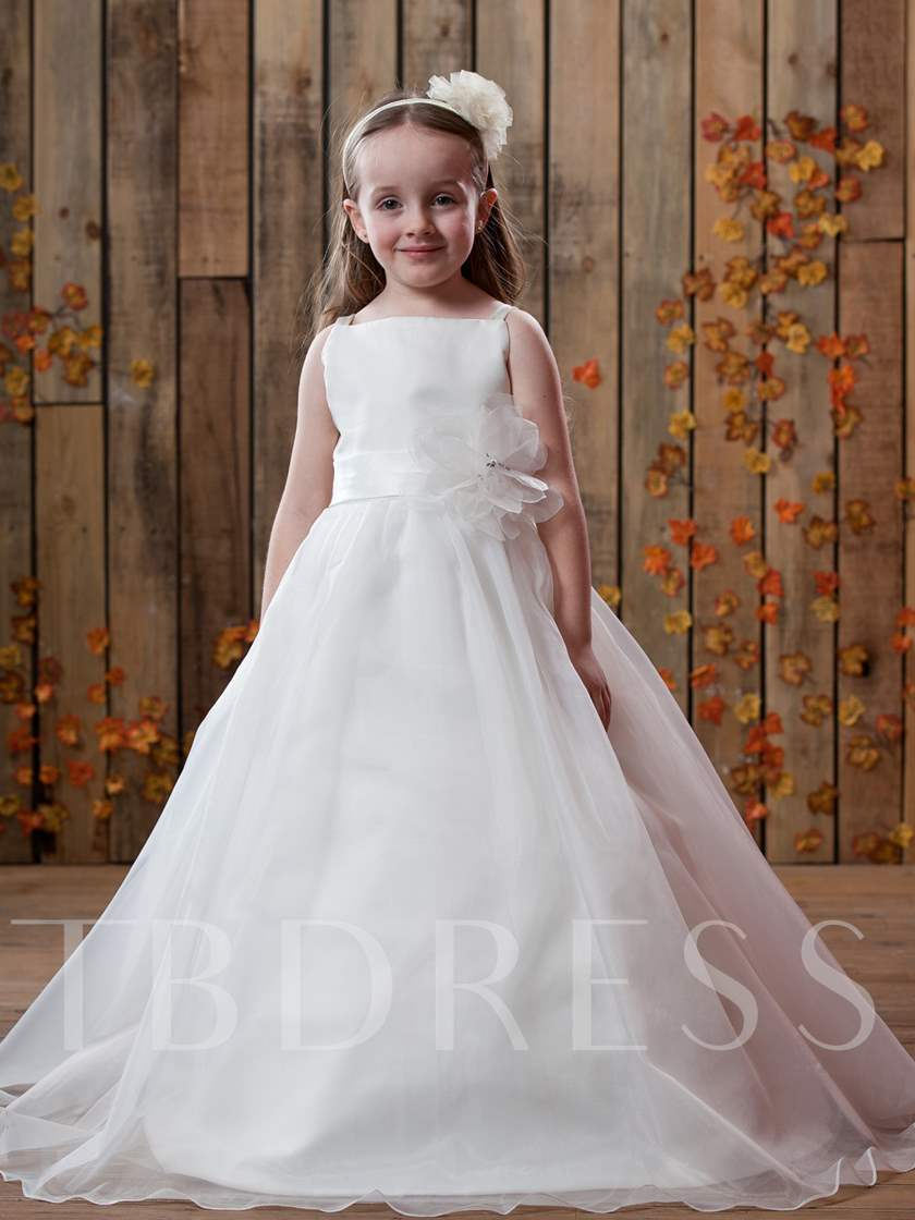 Puffy Ball Gown for Little Flower Girls | vivanspace |Flower Girl Dress Brooches