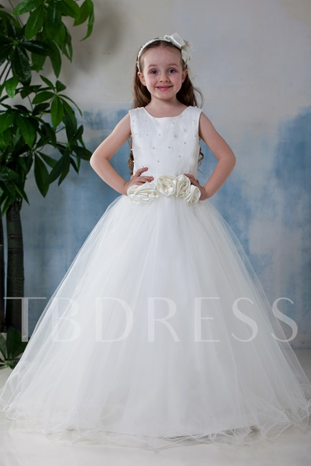 A-Line Scoop Flower Girl Dress
